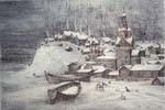 Vitaliy Gubarev: 'North winter'. Etching. 1992