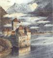 Vitaliy Gubarev: 'Chateau de Chillon'. Gravure a l'eau-eau-fort. 2000