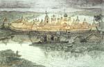 Vitaliy Gubarev: 'Renascence of Solovki'. Etching. 1997