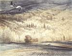 Vitaliy Gubarev: 'Last flight'. Etching. 1996