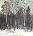 Vitaliy Gubarev: 'The beginnig of spring'. Etching. 1989