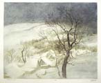 Vitaliy Gubarev: 'Fresh snow'. Etching. 1994