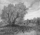 Vitaliy Gubarev: 'Autumn in Melekhovo'. Etching. 1978