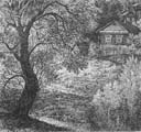 Vitaliy Gubarev: 'Near the brook'. Etching. 1981