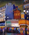 Vitaly Gubarev: Paris, Moulin Rouge. Gouache, 2007