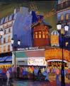 Vitaly Gubarev: Paris, Moulin Rouge. Gouache, 2007