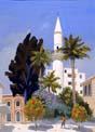 Vitaly Gubarev: Chypre, Larnaca. Gouache, 2008