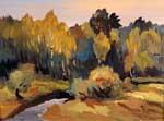 Vitaly Gubarev: La félicité d'automne. Gouache, 2008