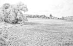 Vitaliy Gubarev: 'The spring in Troitzkoe'. Pencil drawing. 1984
